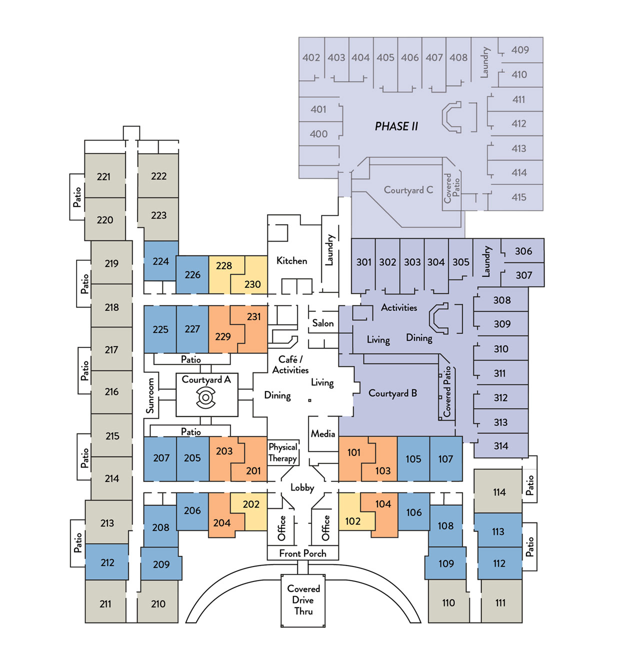 Assisted Living Community Floor Plan