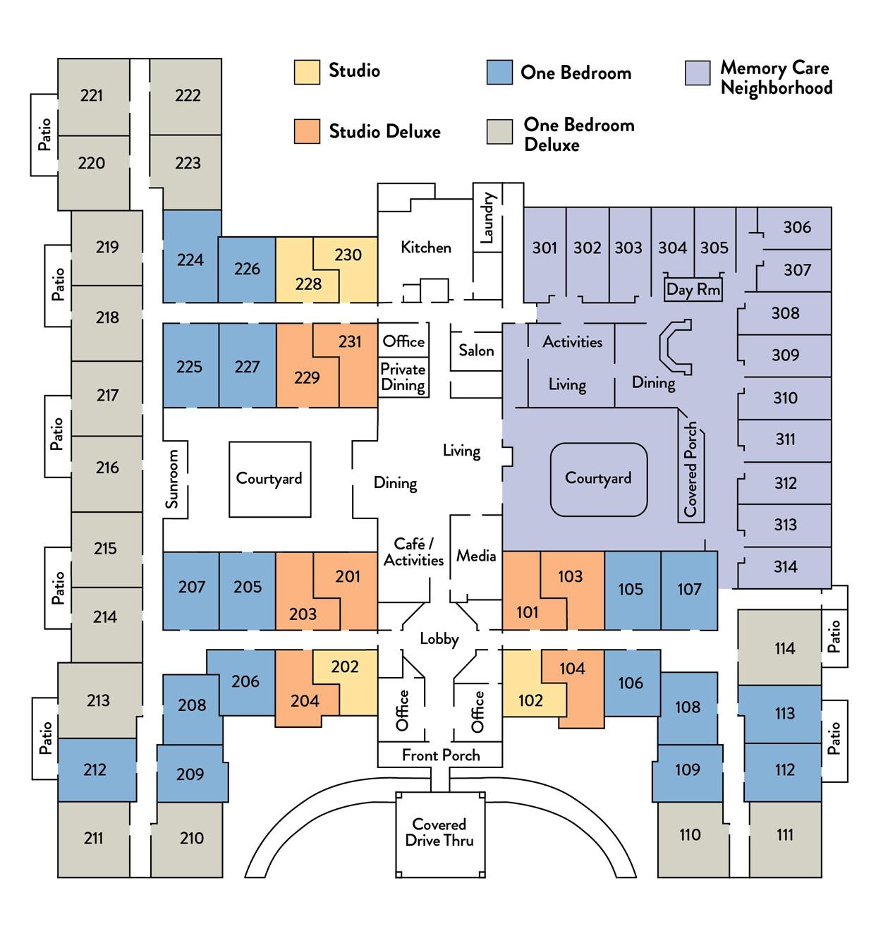 Benton House Community Floor Plans